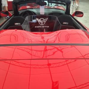 C5 Corvette Logo Convertible WindRestrictor brand wind deflector screen schott jammer block blocker breaker stop OEM